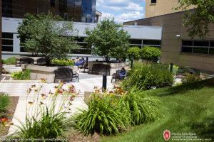 Garden, courtyard, HSLC, Health Sciences Learning Center, UW Hospital, Boxer Passageway