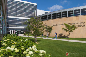 University of Wisconsin, Madison, School of Medicine and Public Health, Ebling Library, SMPH, Health Sciences Learning Center, HSLC, UW-Madison, University of Wisconsin, Architecture, West Campus, flowers, Spring