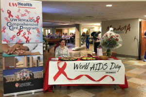 Media Solutions; Graphic Design; University of Wisconsin; School of Medicine and Public Health; UW-Madison, retractable banner, banner, UW HIV/AIDS, World Aids Day, Department of Medicine