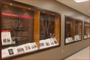 Media Solutions; Graphic Design; University of Wisconsin; School of Medicine and Public Health; UW-Madison, Display Case