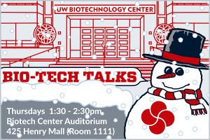 Bio-tech Talks, UW-Madison, January, snowman. S.V. Medaris for Media Solutions