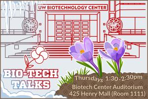Bio-tech Talks, UW-Madison, March, crocuses. S.V. Medaris for Media Solutions