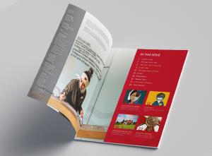 School of Nursing Alumni magazine spread by Sarah Page