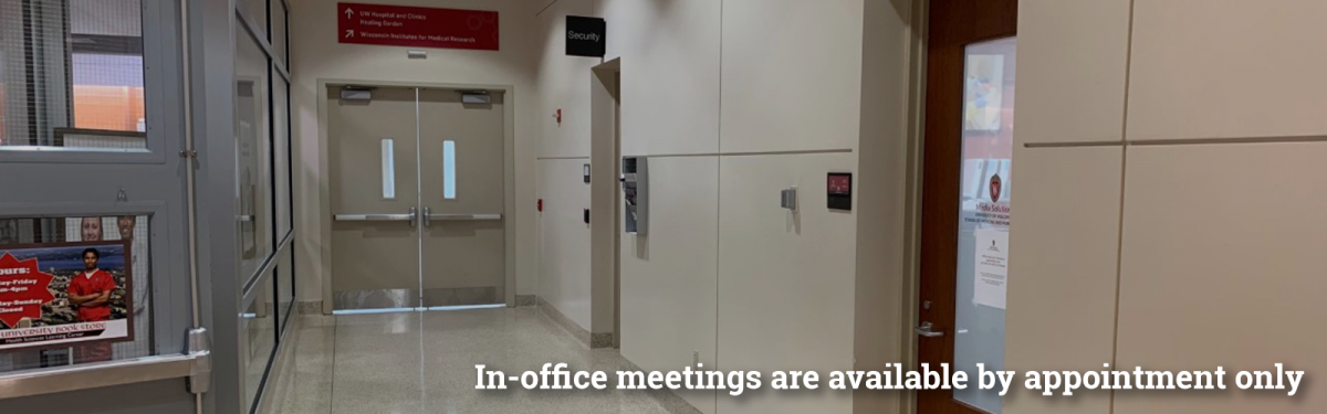Blog hero reads:In-office meetings are available by appointment only.